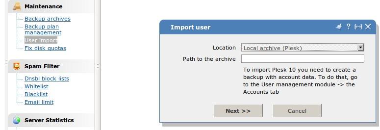 Перенос сайта из панели Сpanel в панель ISP (операционная система Linux)
