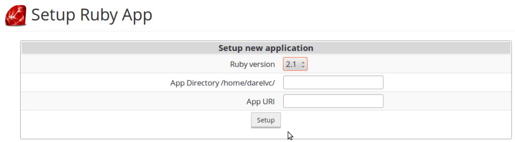 Setup Ruby app