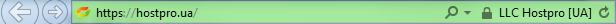 Веб-сайт с EV SSL-сертификатом в браузере IE