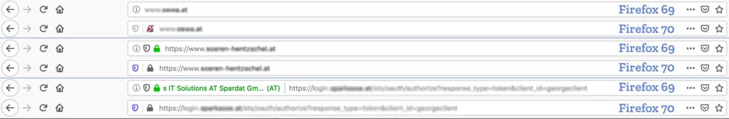 Изменения в Firefox